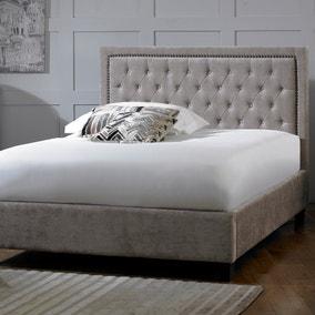 Rhea Mink Velvet Bed Frame