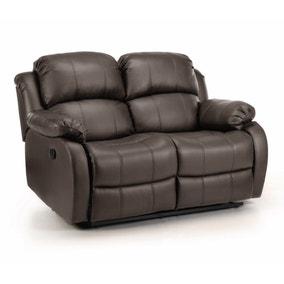 Anton Bonded Leather Reclining 2 Seater Sofa
