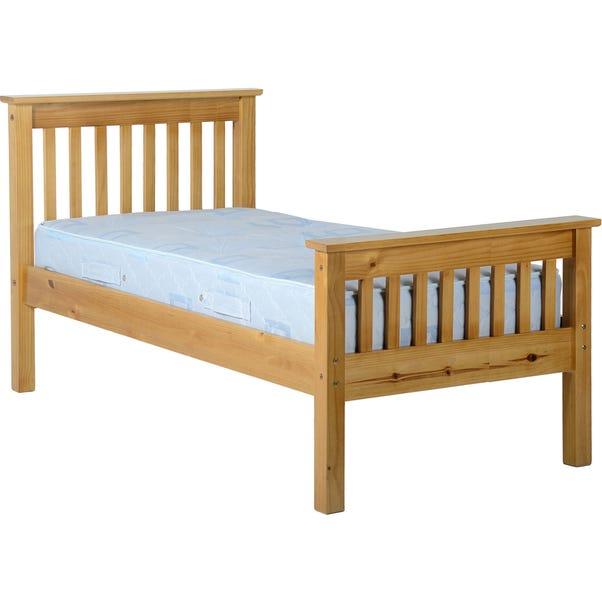 Monaco Waxed Wooden Bedstead Brown undefined