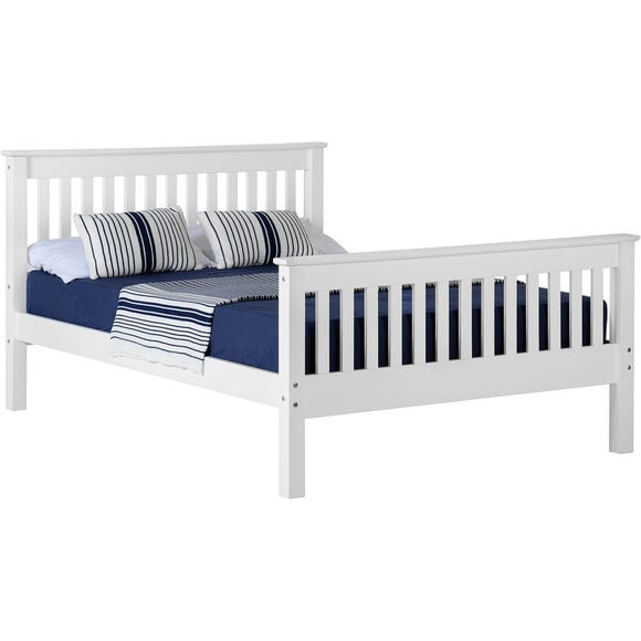 Monaco White High Foot End Bed Frame  undefined
