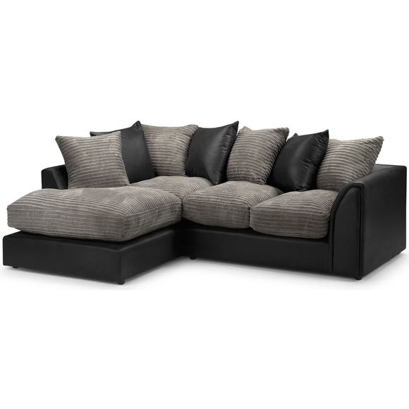 Byron Left Hand Corner Sofa Black