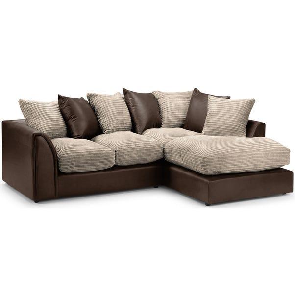 Byron Right Hand Corner Sofa Mink (Brown)