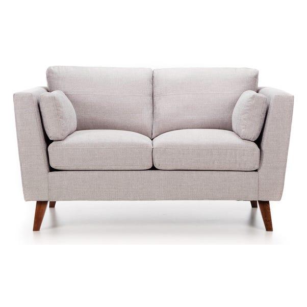 Sam Fabric 2 Seater Sofa Silver