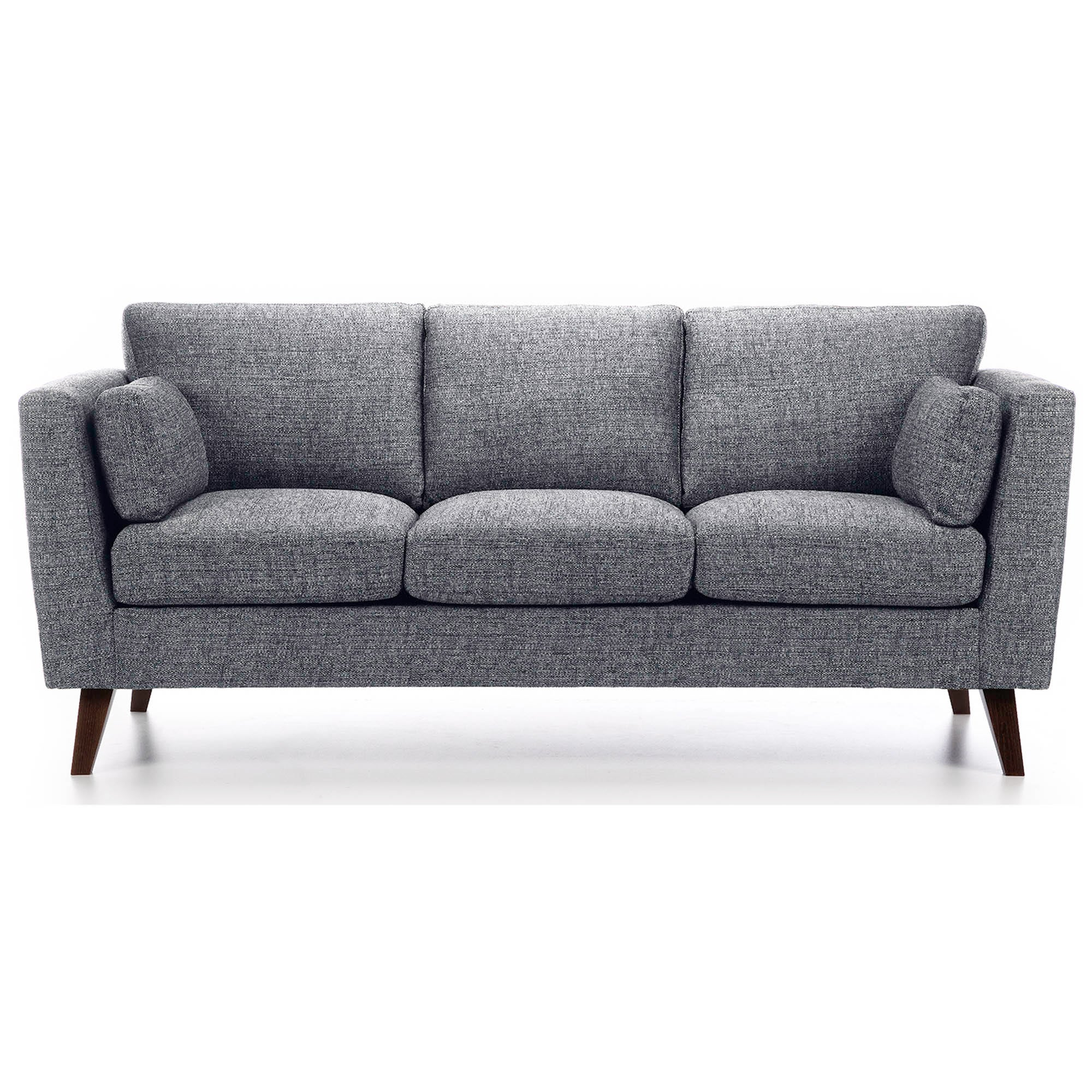 SofasWorld Collection Sam Fabric 3 Seater Sofa Black