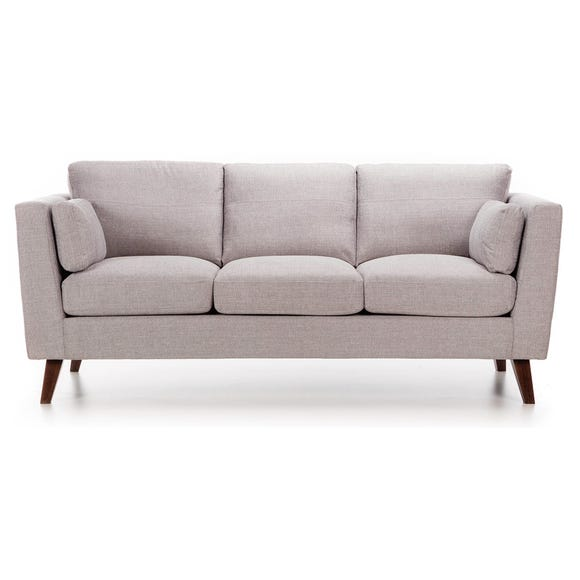 Sam Fabric 3 Seater Sofa Silver