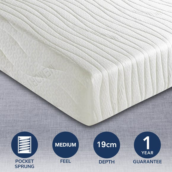 MemoryPedic Memory Spring Classic Mattress White undefined