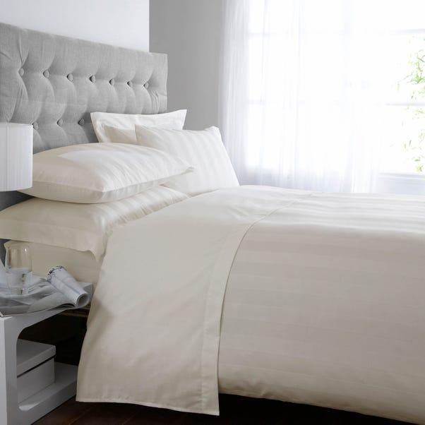5A Fifth Avenue Egyptian Cotton 300 Thread Count Stripe Cream Duvet Cover Cream undefined