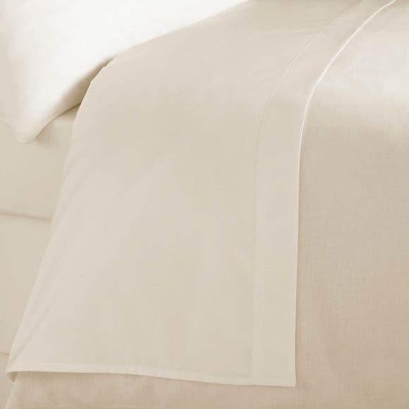 5A Fifth Avenue Egyptian Cotton 300 Thread Count Flat Sheet Cream undefined