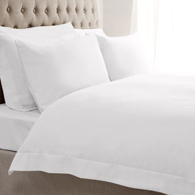 5A Fifth Avenue Egyptian Cotton Sateen 300 Thread Count White Oxford Duvet Cover