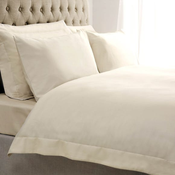 5A Fifth Avenue Egyptian Cotton Sateen 300 Thread Count Cream Oxford Duvet Cover  undefined