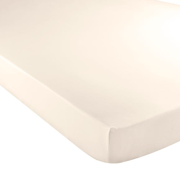 5A Fifth Avenue Egyptian Cotton 300 Thread Count Fitted Sheet Cream undefined