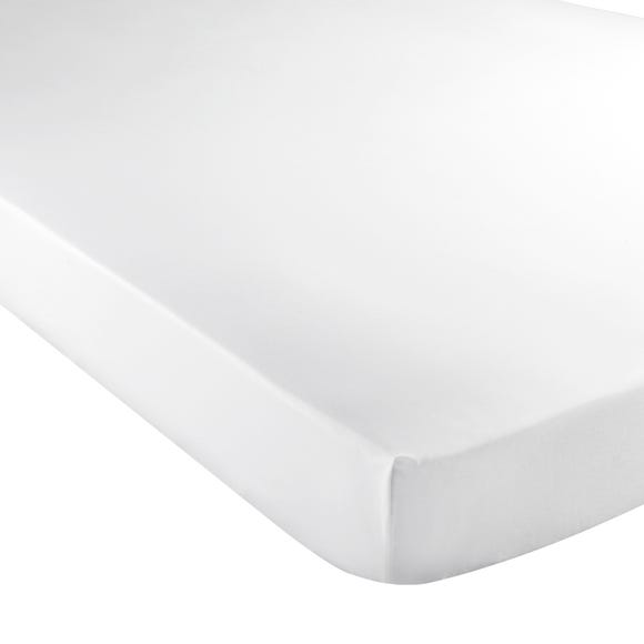 5A Fifth Avenue Egyptian Cotton Sateen 300 Thread Count Fitted Sheet White undefined