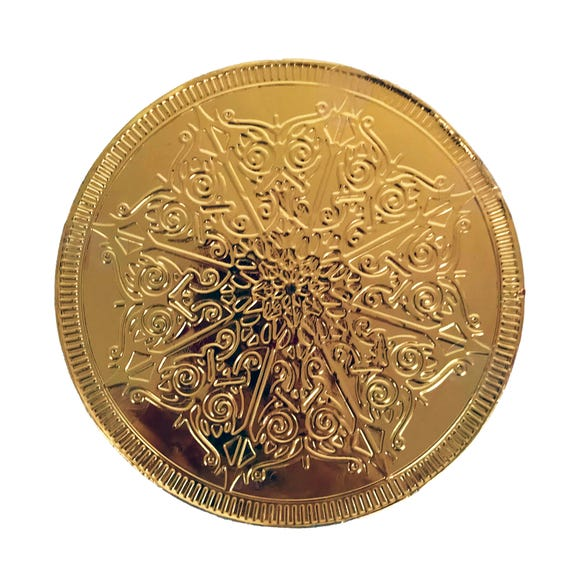 Giant Chocolate Gold Coin Gold