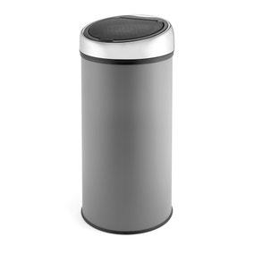 Dunelm 30L Grey Press Top Bin