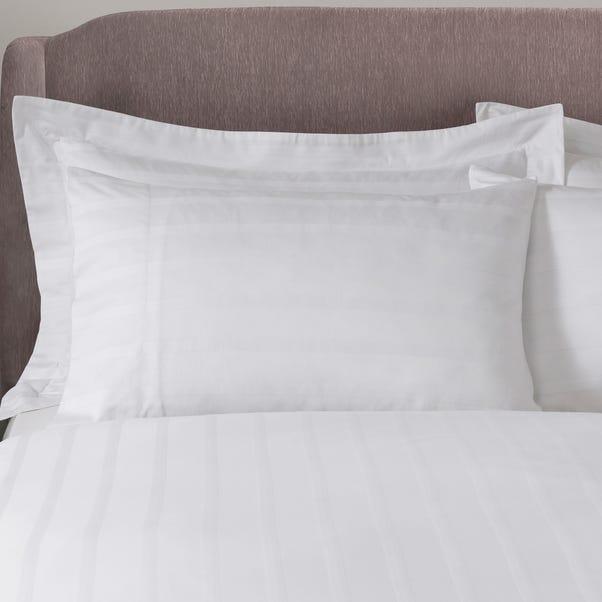 5A Fifth Avenue Herringbone 300 Thread Count 100% Cotton White Cuffed Pillowcase Pair White