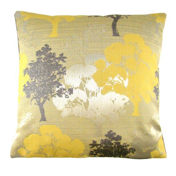 Margo Ochre Trees Cushion Cover Ochre undefined