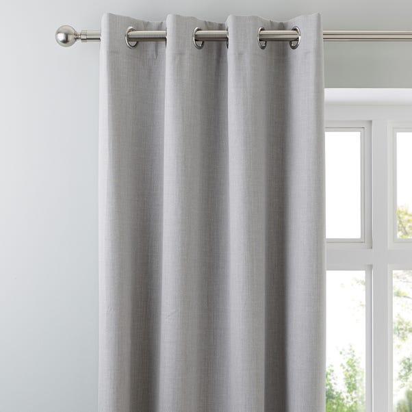 Solar Grey Blackout Eyelet Curtains  undefined