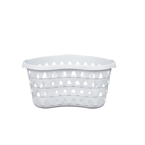 Strata White Hip Laundry Basket