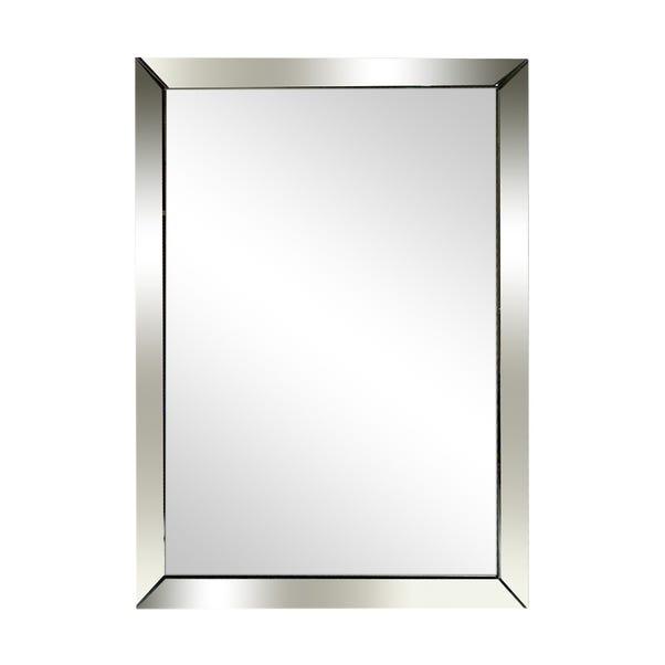 Oram Wall Mirror 90x65cm Silver undefined