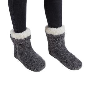 Teddy Bear Charcoal Slipper Socks