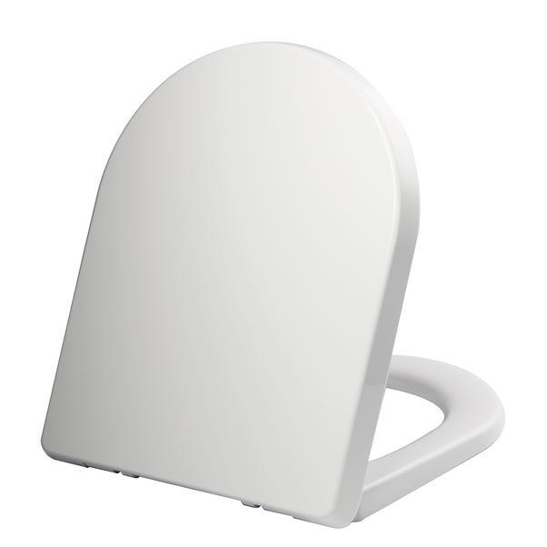 Thermoplast White D Shape Toilet Seat White