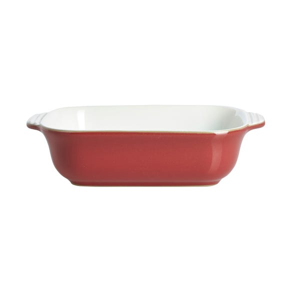 Denby Pomegranate Small Rectangular Dish Red