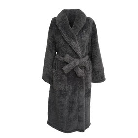 Teddy Bear Charcoal Dressing Gown