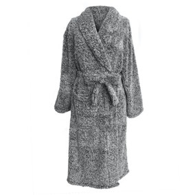 Teddy Bear Marl Grey Bathrobe