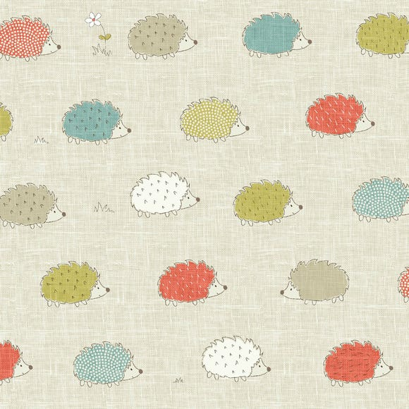 Hedgehog Print PVC MultiColoured