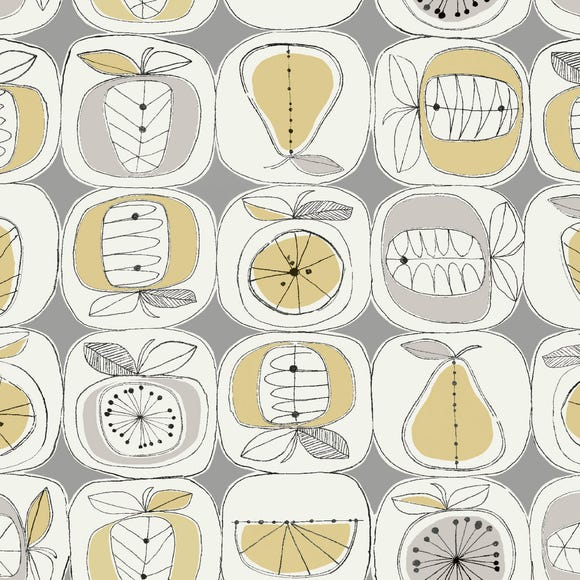 Elements Fruit Print PVC Grey