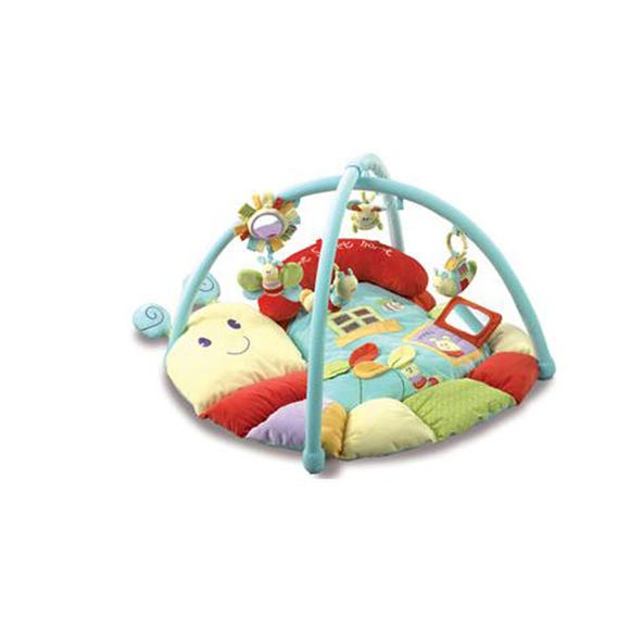 Little Bird Told Me Softly Snail Snuggle Time Playmat and Gym MultiColoured
