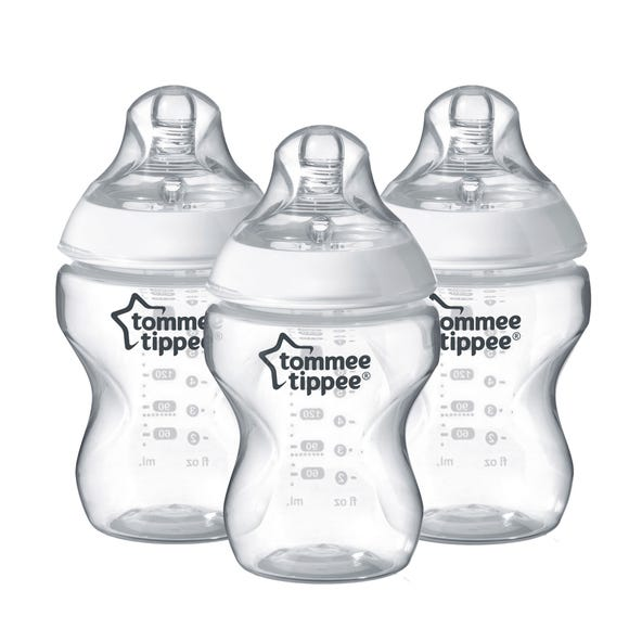 Tommee Tippee Closer To Nature 3 Pack 260ml Bottles Clear