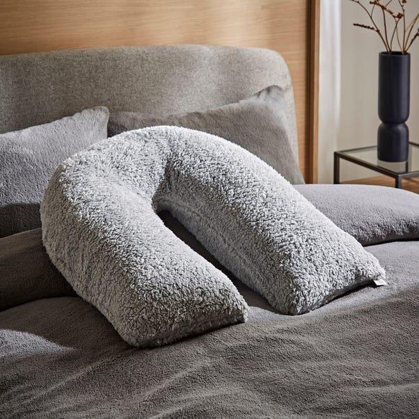 Teddy Bear Grey V-Shaped Cushion