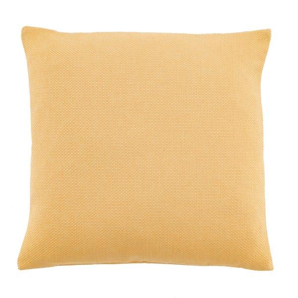 Barkweave Square Cushion Ochre undefined