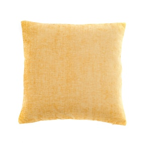 Large Chenille Ochre Cushion