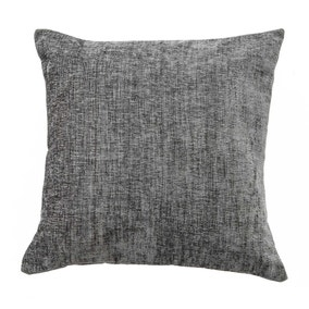 Large Chenille Charcoal Cushion