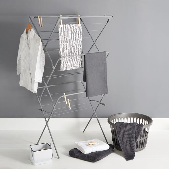 Grey 3 Tier Wide Airer Grey