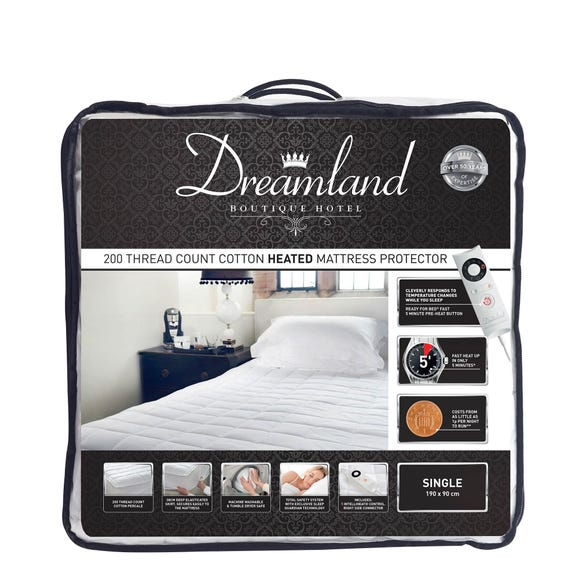 Dreamland 200 Thread Count Heated Mattress Protector  undefined