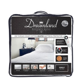 Dreamland 200 Thread Count Heated Mattress Protector