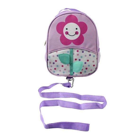 Red Kite Flower Back Pack and Reins Purple