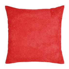 Large Chenille Spot Red Cushion