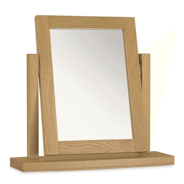 Eaton Oak Vanity Mirror Brown