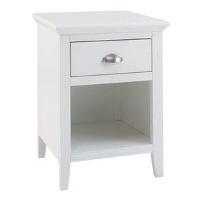Eaton White 1 Drawer Nightstand