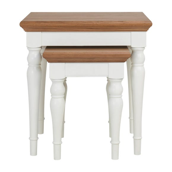 Eaton Two Tone Nest of Tables Ivory