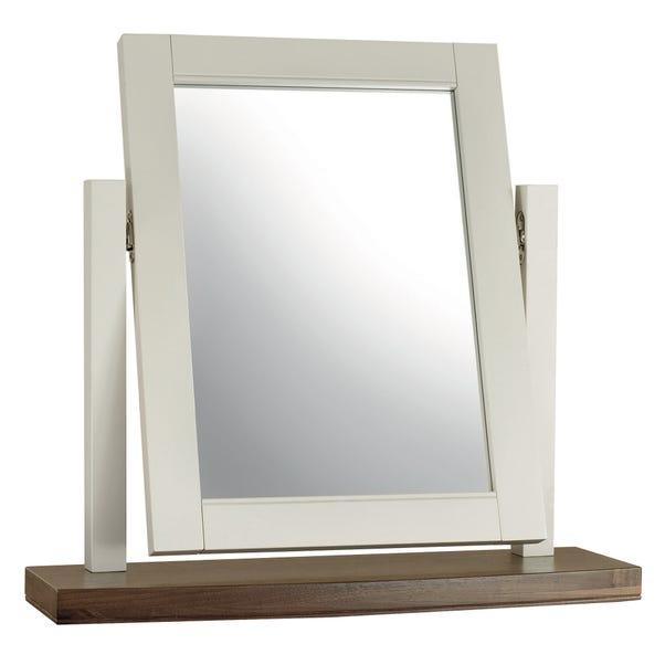 Eaton Walnut Vanity Mirror Grey