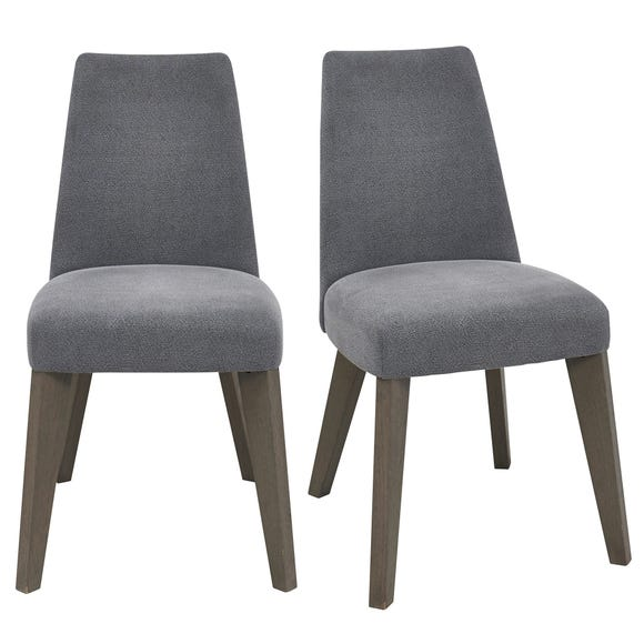 Cadell Set of 2 Dining Chairs Blue Fabric