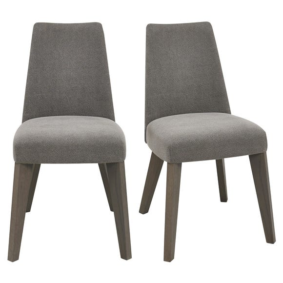 Cadell Set of 2 Dining Chairs Grey Fabric Grey