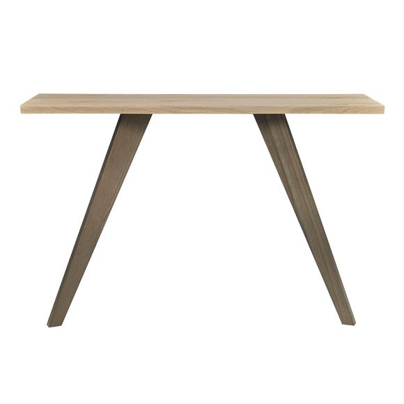 Cadell Aged Oak Console Table Brown