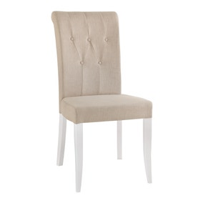 Eaton Set of 2 Dining Chairs Ivory Fabric