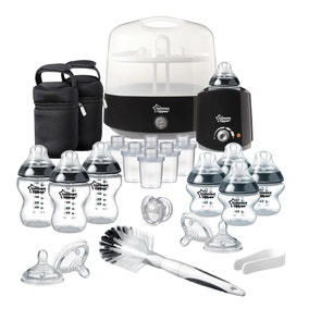 Tommee Tippee Closer To Nature Black Complete Feeding Set